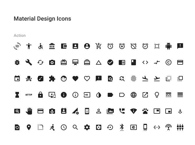 200+ material icons set for Figma
