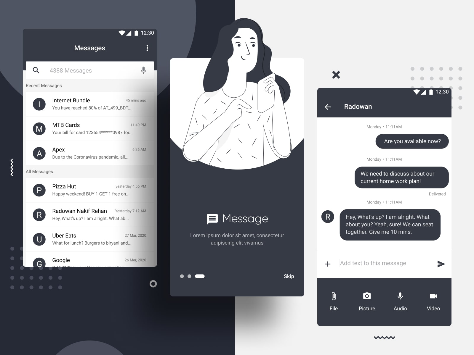Figma Android Messaging App UI